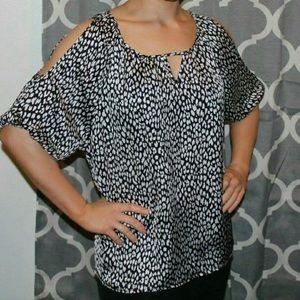 Express leopard print blouse
